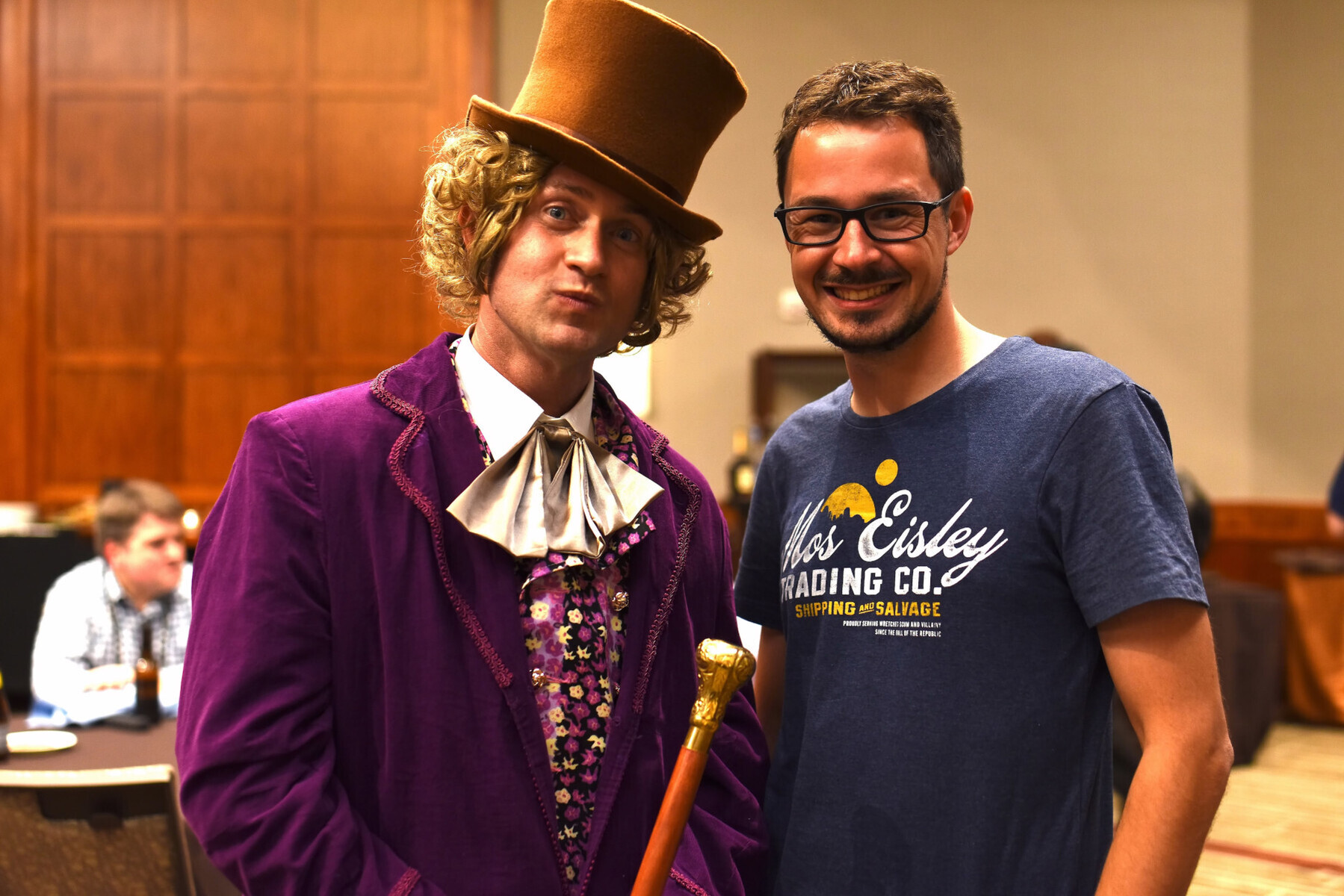 Rob Reynolds as Willi Wonka after the event